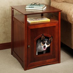 Wood Accent Table Pet House
