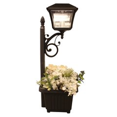 Solar Outdoor LED Path and Garden Light with Planter