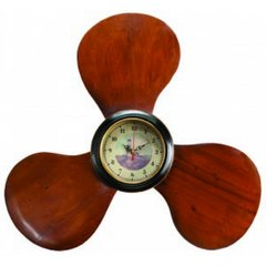 Wooden Propeller Clock 22""