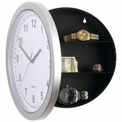 "9-7/8"" Clock with Hidden Safe"