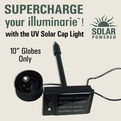 Solar Cap Light for Illuminating Gazing Globes