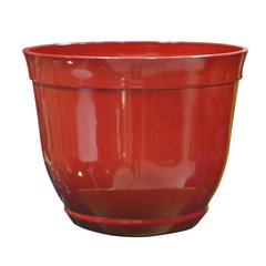 Outdoor Red Bowl Planter 15""