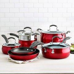 11-pc. Aluminum Nonstick Cookware Set