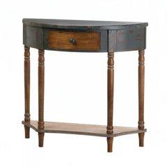 Wood, Half-Moon Hall Table