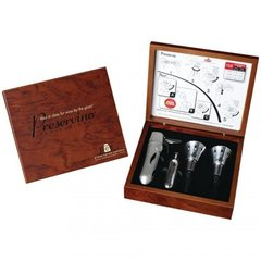 Professional Wine Stoppers With Rosewood Gift Box
