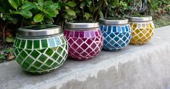Solar Garden Mosaic Pot Light