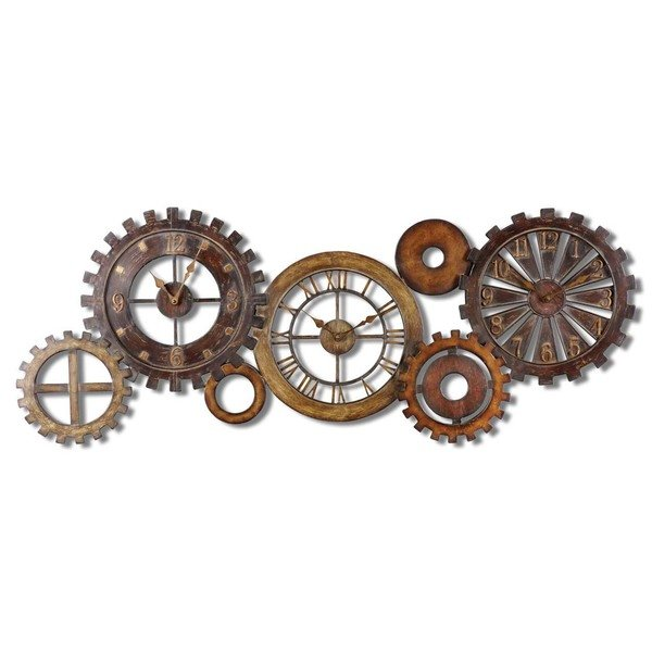 3 Uttermost Spare Parts Wall Clock