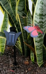 Outdoor Solar Garden Decor Flickering Insects