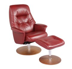 Benzara Recliner Chair & Ottoman