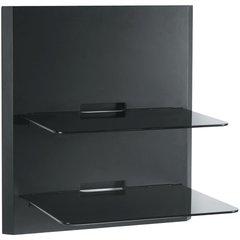 2 Shelf Audio/Visual Wall Shelf Unit