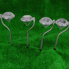 Diamond Shaped LED Solar Light Set  with Changing Colors,
