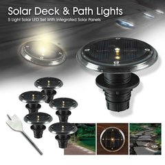 Recessed Solar Deck, Dock and Path Light Sets