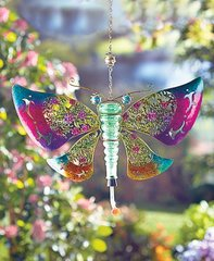 Metal and Glass Hummingbird Feeders