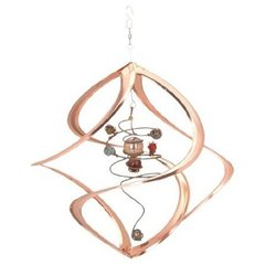 Spiral Planet Cosmic Copper Wind Spinner