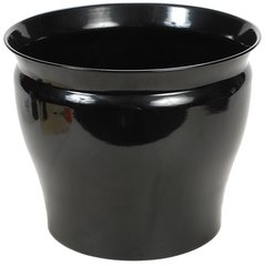 Shiny Black Metal Planters (Sets of 2 in 3 sizes)