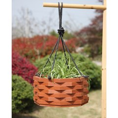 Deluxe Wood Hanging Planters