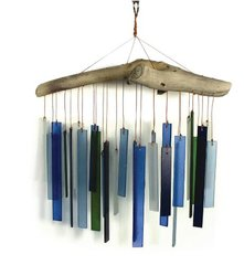 Driftwwod and Glass Wind Chimes
