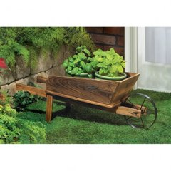 Country Flower Pot Planter Cart