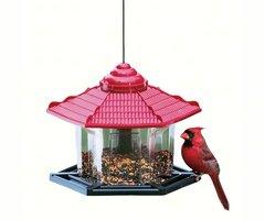 Red Roof Gazebo Bird Feeder