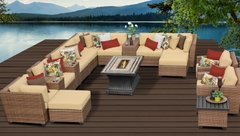 17 Piece Outdoor Wicker Patio Furniture Set