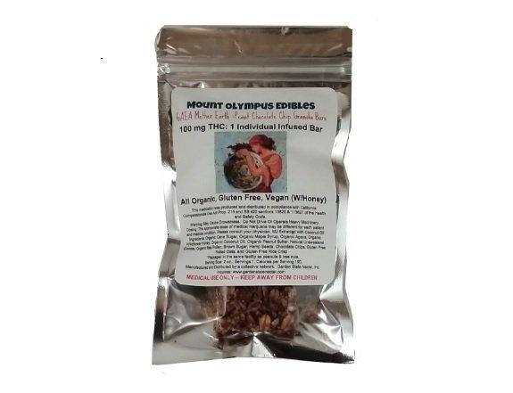Mount Olympus- Gaea 100mg All Organic Granola Bar