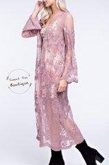 Mauve Lace Kimono