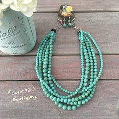 Turquoise Necklace with Earrings