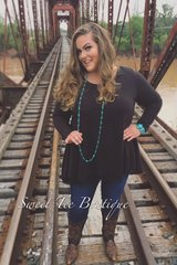Black Layered Flare Top