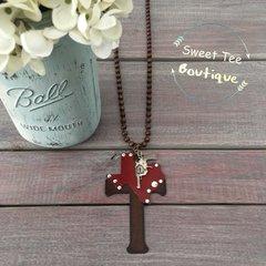 Texas Gun Cross Necklace
