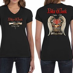 Bike Week Ladies 002 Heart/Wings T-Shirt