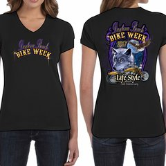 Bike Week Daytona Beach Ladies 011 Coyote/Bike T-Shirt