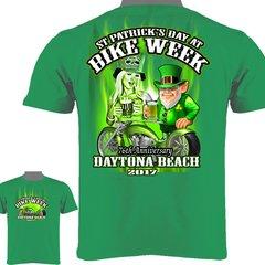 Daytona Beach Bike Week 2017 St. Patrick's Day T-Shirt 0017