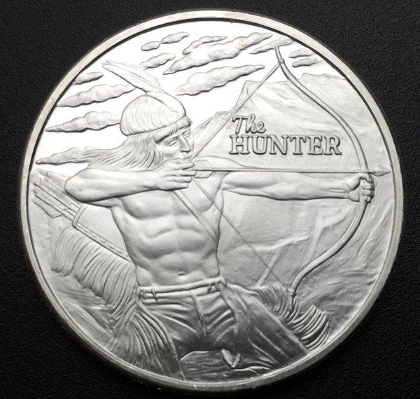 Squanto 1 Oz Native American The Hunter 999 Silver Bison