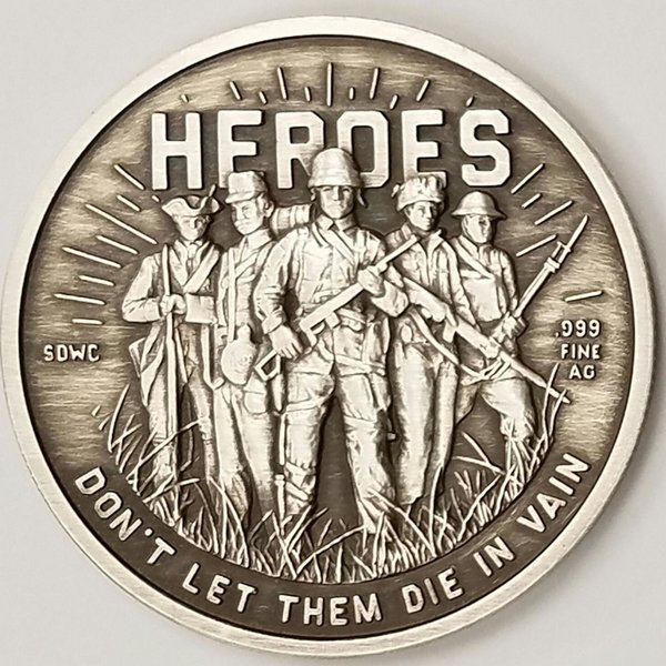 Heroes Sdwc War Collection Final Release 1 Oz 999