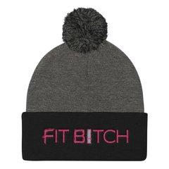 Beanie Cap - Fit Bitch - Black/Grey