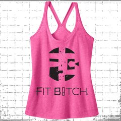 Fit Bitch T-Back Tri-Blend Tank - Original