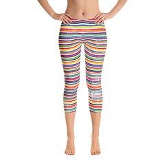 Fit Bitch Capris - Stripes