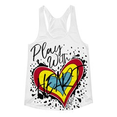Fit Bitch Play With Heart Racerback Tank