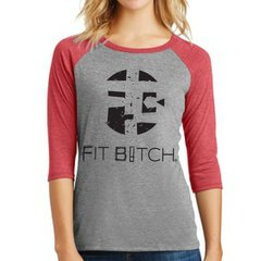 FB Logo - Fit Bitch Baseball Tri-Blend T-shirt