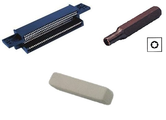 NES 72 Pin Connector, 3.8 mm Bit, Contact Cleaning Eraser