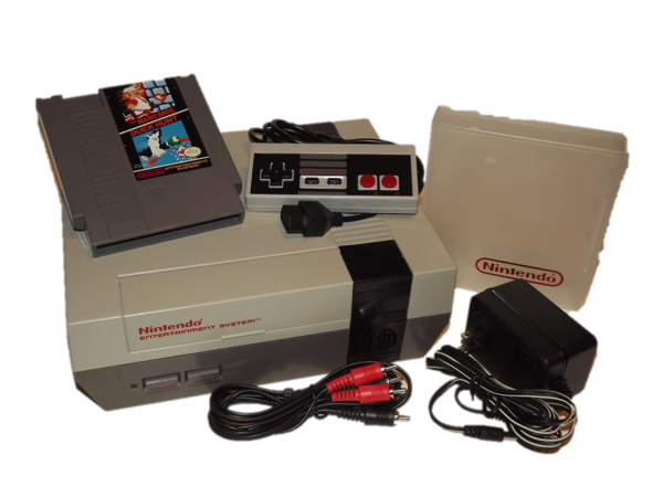Nintendo NES System with Mario/Duck Hunt and Case