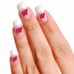 Wisconsin Badgers Fingernail Tattoos