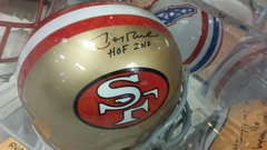 San Francisco 49ers Jerry Rice Autographed Full Size Replica Helmet