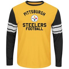Pittsburgh Steelers Long Sleeve Shirt 100% Cotton NFL