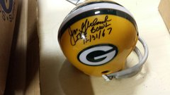 Green Bay Packers Jim Grabowski Mini Helmet Autographed