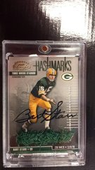 Bart Starr Packers Donruss Classics Hashmarks Authentic Game Used Turf Autograph