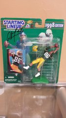 Green Bay Packers Antonio Freeman 1998 Autographed Starting Lineup Figure SLU