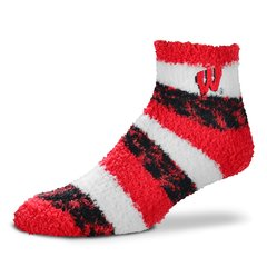 Wisconsin Badgers FBF RMC Pro Stripe Quarter Sock