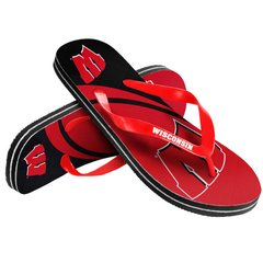 Wisconsin Badgers Big Logo Unisex Flip Flops NCAA
