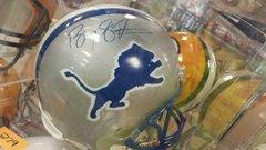 Detriot Lions Barry Sander Replica Full Size Autographed Helmet